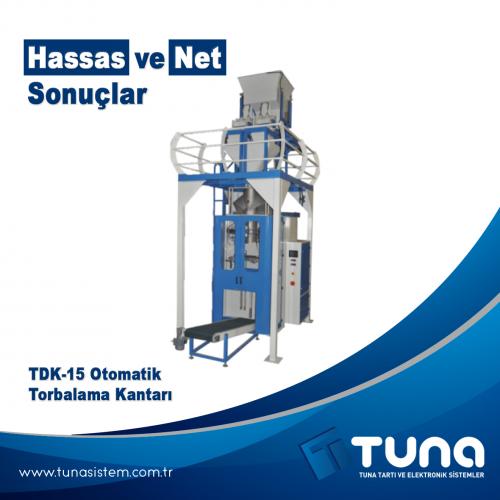 """TDK-15 Otomatik Torbalama Kantarı """"Hassas ve net sonuçlar"""""""