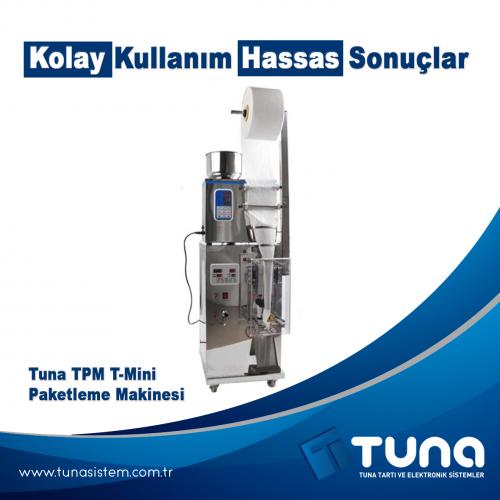 "Tuna TPM T-Mini Paketleme Makinesi  ""Kolay Kullanım Ve Hassas Sonuçlar"""