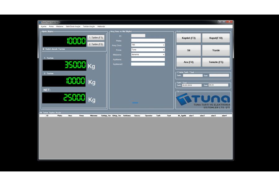 TWIN-PRO Web Tabanlı Taşıt Kantarı Programı